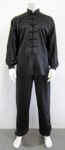 Black satin Tai Chi (Taiji) jacket