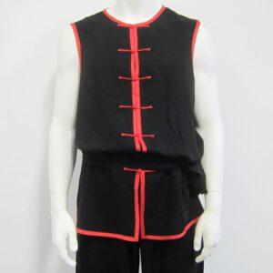 wushu / kungfu (nan quan) jasje in zwart fijn katoen met rode randjes