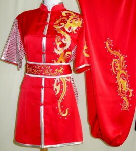 Wushu Red Yellow Fantasy Silver sequins silver
