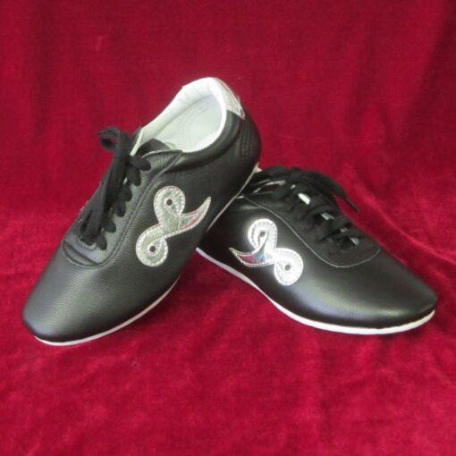 Leather wushu shoes black budosaga