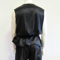 Wushu nan quan kung fu top jacket satin no collar sleeveless