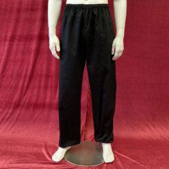 Kung Fu pants cotton polyester mix black