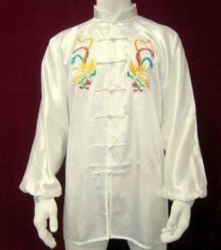 Tai chi jacket satin double phoenix