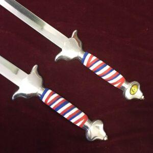 Double wushu swords straightsword